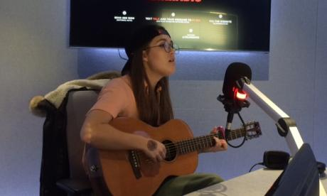 Kyla Stroud performs in Busker Sessions with Jon Holmes