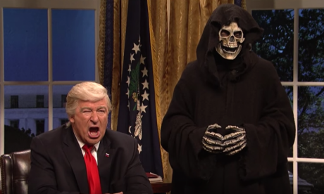 Donald Trump 'upset' over Saturday Night Live skit portraying Stephen Bannon as the Grim Reaper