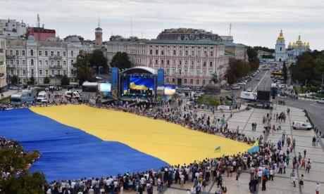 Russian Security services have allegedly tortured a student for hanging Ukraine's flag from his dormitory window