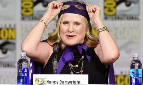 Nancy Cartwright - the voice of Bart Simpson - surprises teenager at supermarket