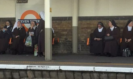 Internet amused after London commuter spots seven nuns at Seven Sisters station
