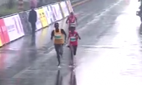 Lucky break - Third place runner wins marathon because winners went to wrong finish line