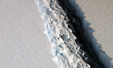 Massive iceberg in Antarctica about to split from main body of ice