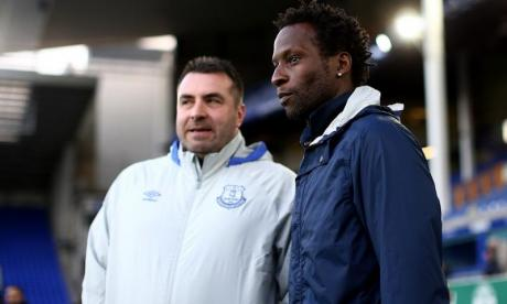 Ugo Ehiogu seen here (right) while coaching Tottenham Hotspur