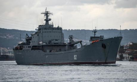 Russian warship crashes off coast of Turkey after hitting cargo freighter