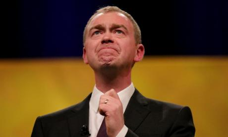 'Theresa May is making Nigel Farage look like a liberal by choosing a hard Brexit', says Lib Dem leader Tim Farron