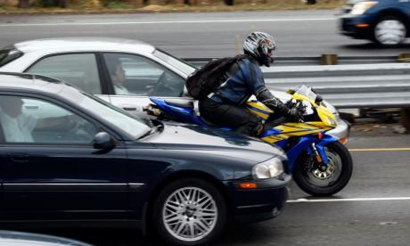 Driver claims motorcyclist could have killed him instead by speeding