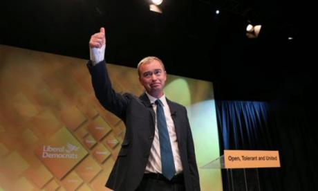 Tim Farron has positioned himself as the man to stop hard Brexit