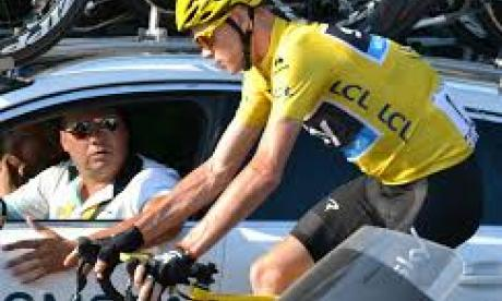 Froome said his bike was 'totalled' in the incident