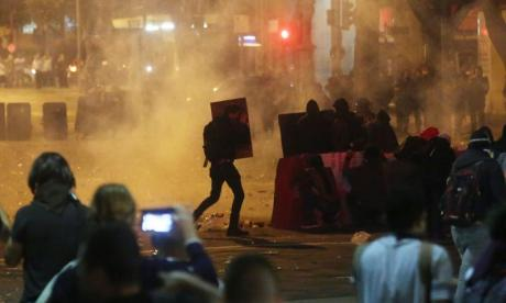 Several injured after clashes between protesters and police in Brazil