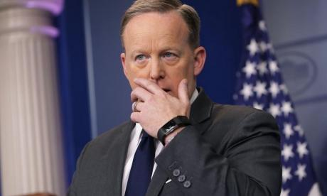 Sean Spicer claims he isn't stepping back from the public eye