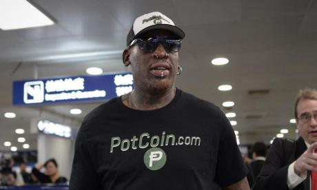 Basketball star Dennis Rodman gives Kim Jong-un copy of Donald Trump's book