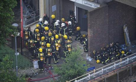 Grenfell Tower: Piers Morgan leads Twitter tributes to London Fire Brigade as work continues to extinguish blaze