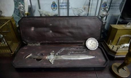 This Nazi dagger was among the images found in the raid