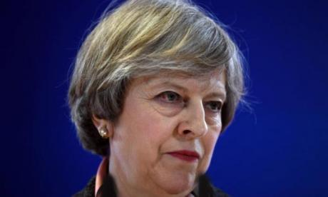 Theresa May faced a rather awkward question last night
