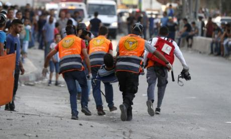 Five Palestinians died in last week's protests