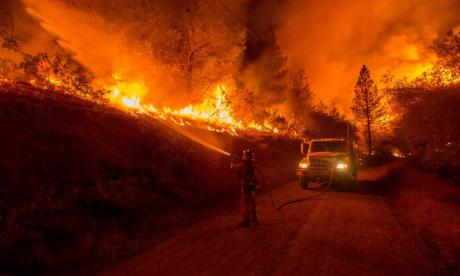 Major deployment of emergency service workers to battle forest fires in California