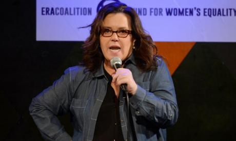 Comedian Rosie O'Donnell criticised for sharing push Donald Trump off cliff game