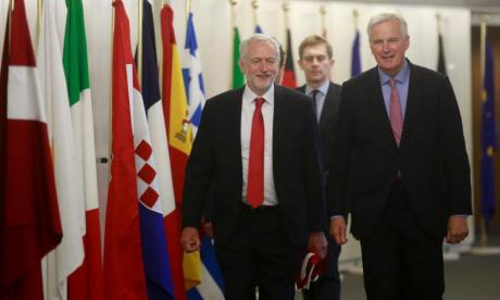 Brexit: Jeremy Corbyn and Michel Barnier's meeting barely observed in foreign press