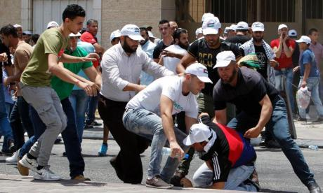 Violence has erupted across East Jerusalem