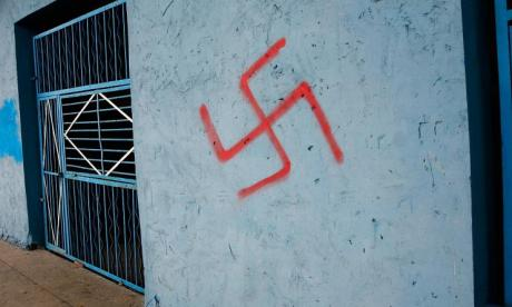 Racist graffiti including swastika causes outrage at University of Sydney