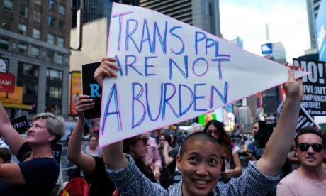 Transgender people encouraged to work with police after Donald Trump's military ban