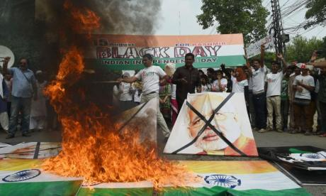 Black Day: Kashmiris protest against India's Independence Day