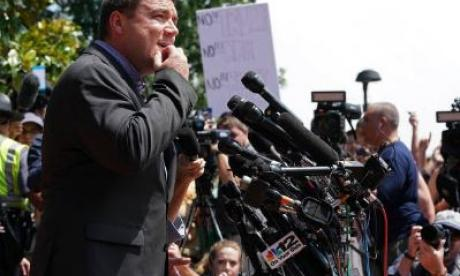 Jason Kessler is seen during his aborted press conference