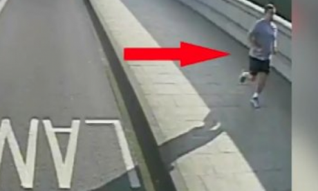 The jogger pushed a woman into the path of an oncoming bus