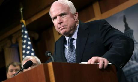 War veteran John McCain says prognosis 'vicious form of cancer' is good