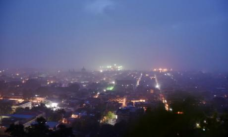 The sunrise is seen in Cap-Haitien, Haiti as the storm approaches
