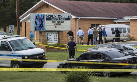 One killed and seven injured after gunman opens fire at Tennessee church