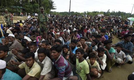 Thousands of Rohingya people are desperate for aid