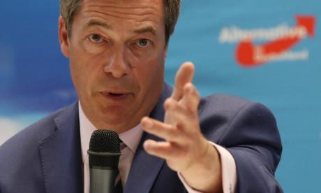 Nigel Farage was furious at the 'blood on his hands' interview