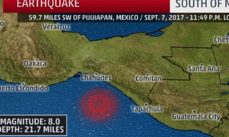 Tsunami is confirmed after major earthquake strikes off the coast of Mexico