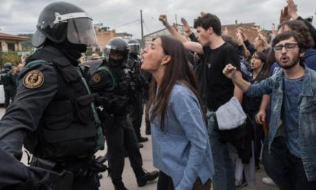 The Catalan regional government claims over 800 people were injured
