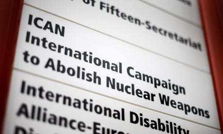 Nobel Peace Prize awarded to the International Campaign to Abolish Nuclear Weapons