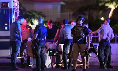 Las Vegas shooting: gunman fired at security guard minutes before launching attack