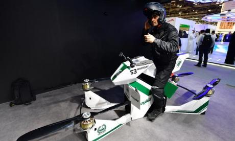 Dubai police unveil motorbike drones for officers