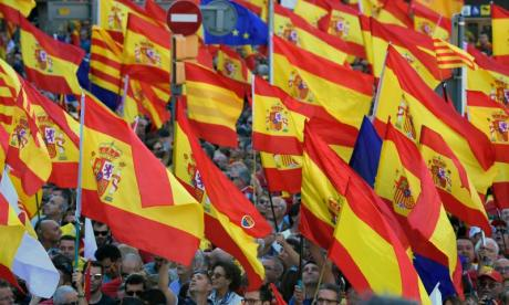 A unity march took place in Barcelona