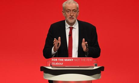 Jeremy Corbyn used social media to aim a dig at May