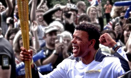 Chris Kamara, seen here carrying the Olympic flame before London 2012, has become one of Britain's best-known football pundits