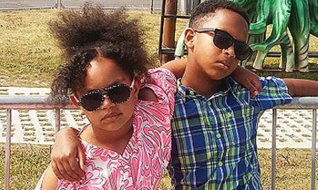 Endris Mohammed's two children are seen here in a handout photo from police