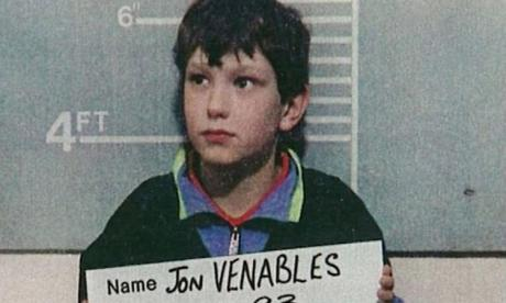 Jon Venables after his arrest in 1993
