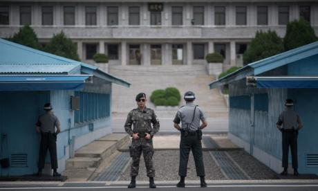 Dramatic footage shows North Korean soldier fleeing to South Korea