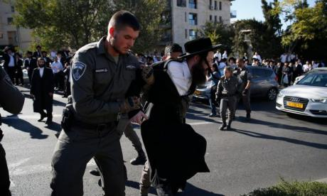 Protestors 'try to set fire to army draft office in Jerusalem'