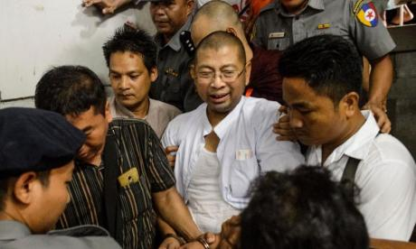 Monk denied bail after allegedly inciting unrest during anti-Rohingya protest in Myanmar