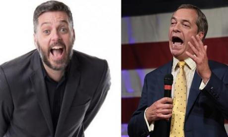 Iain Lee launched a scathing attack on Farage on his talkRADIO show
