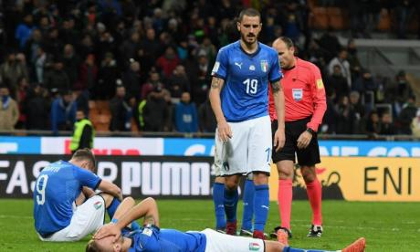 Italian players and fans were left devastated by their failure to beat Sweden on Monday