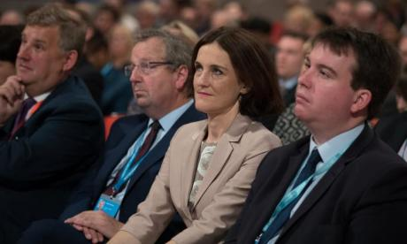 Theresa Villiers, seen here at last year's Tory conference, struck a note of optimism ahead of the Budget